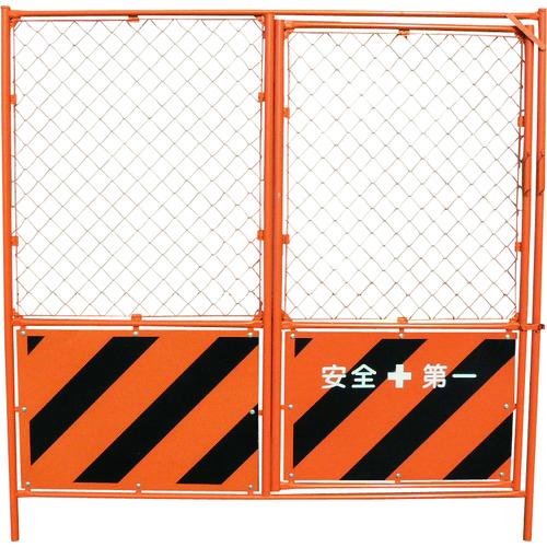 [工事用フェンス](株)グリーンクロス グリーンクロス 扉付ガードフェンス 1104520112 1枚【783-7801】【代引不可商品】【別途運賃必要なためご連絡いたします。】【法人様方のみのお取扱いとなります】