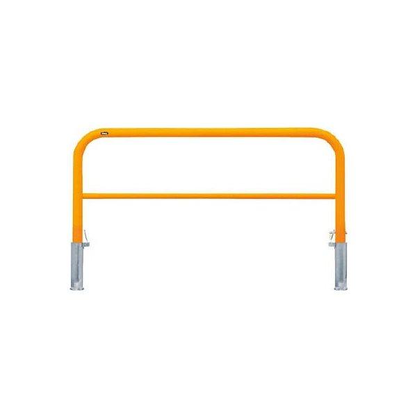 [車止めアーチ](株)サンポール サンポール アーチ 車止め 差込式カギ付(スチール) 黄色 FAH-7SK15-650(Y) 1本【453-0519】【代引不可商品】【別途運賃必要なためご連絡いたします。】