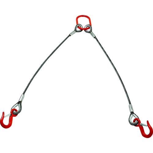 [ワイヤロープスリング]【送料無料】トラスコ中山(株) TRUSCO 2本吊りアルミロックスリング フック付き 9mmX2m TWEL-2P-9S2 1S【160-6393】【北海道・沖縄送料別途】【smtb-KD】