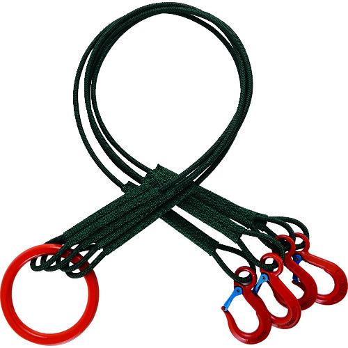 [ロープスリング]トラスコ中山(株) TRUSCO 4本吊セフティパワーロープ 径9mm 長さ1.5m SP4-915-900 1台【161-2266】【代引不可商品・メーカー直送】【別途運賃必要なためご連絡いたします。】