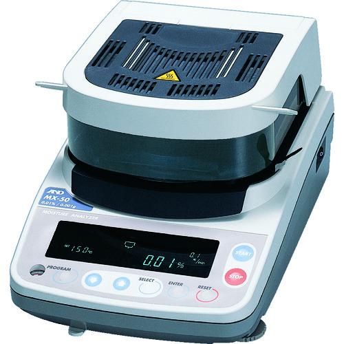 [水分計](株)エー・アンド・デイ A&D 加熱乾燥式水分計 最小質量表示0.001g MX-50 1台【456-5525】【代引不可商品・メーカー直送】【別途運賃必要なためご連絡いたします。】