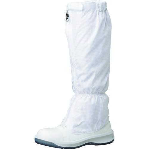 [クリーンルーム用シューズ]ミドリ安全(株) ミドリ安全 トウガード付 静電安全靴 GCR1200 フルCAP フード ホワイト 26.0cm GCR1200FCAP-H-26.0 1足【149-3668】