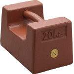 [分銅]【送料無料】新光電子(株) ViBRA 鋳鉄製枕型分銅 20kg M2級 M2RF-20K 1個【392-4521】【北海道・沖縄送料別途】【smtb-KD】