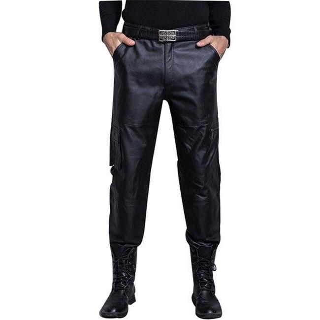 新品 豚革レザーパンツ メンズパンツ 革パンツ バイクパンツ 本革 無地 カッコイイ 大きサイズ スキニーパンツ ロングパンツ 送料無料