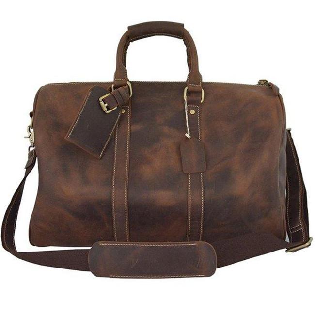 ボストンバッグ 厚手牛革 メンズ ビンテージ 本革 レザー ワイルド トラベル ショルダーバッグ 手提げ鞄 旅行 ゴルフ鞄 45cm 機内持ち込み