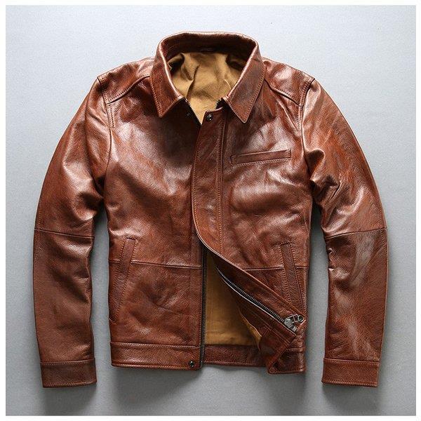 本革ジャケット バイクジャケット 牛革 ライダースジャケット オイルワックス加工 革ジャケット 革ジャン レザージャケット メンズ 送料無料