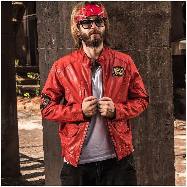 本革ジャケット フライトジャケット レザージャケット 羊革 革ジャン ラム革 本革 刺繍 革ジャケット 羊革バイクジャケット メンズ 送料無料