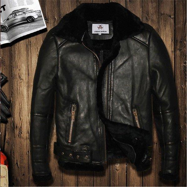 メンズファッション 毛皮 牛革ジャケット 裏ポア 細身タイプ ライダーメンズ 牛革バイクジャケット ライダースジャケット バイクウェア お洒落 ファッション 送料無料