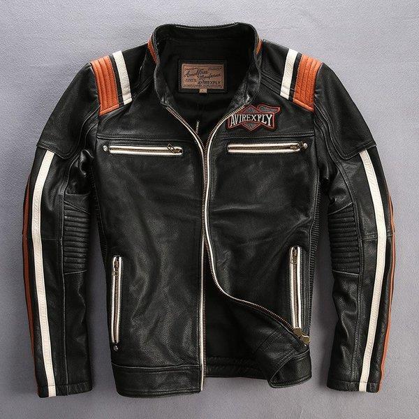 メンズファッション レザージャケット 牛革ジャケット 刺繍 細身タイプ ライダーメンズ 牛革バイクジャケット ライダースジャケット バイクウェア お洒落 ファッション 送料無料
