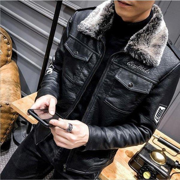 ライダースジャケット メンズ レザージャケット ショート丈 倉 フェイクレザージャケット 無地 ブラック 在庫処分 新作 秋冬アウター pu革 黒 革ジャン