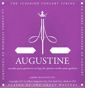 AUGUSTINE(オーガスチン) 「REGAL/BLUE SET(リーガル/ブルー:4-5-6弦ハイテンション)×12セット」 定番クラシックギター弦ブランド 【送料無料】【smtb-KD】:-p2