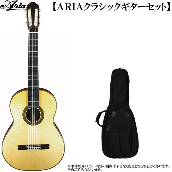 クラシックギター・セット ARIA(アリア)「A-100S Classic Guitar/スプルス単板トップ:2点セット」 【送料無料】【smtb-KD】:a100s-2p-p5