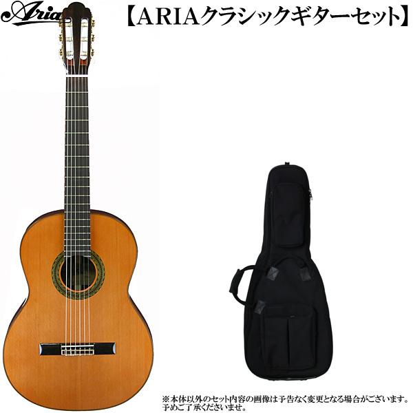 クラシックギター・セット ARIA(アリア)「A-100C Classic Guitar/セダー単板トップ:2点セット」 【送料無料】【smtb-KD】:a100c-2p-p5