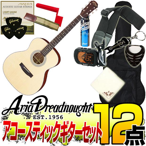 Aria Dreadnought AF-201 -Auditorium- NAT(ナチュラル)【オリジナル12点セット】(アリアドレッドノート)/AF201/アコースティックギター アリア ドレッドノート【送料無料】【smtb-KD】:-p2