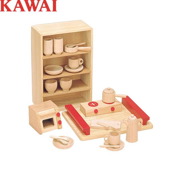 KAWAI カワイの木製おもちゃ 抗菌ままごとあそびトレイセット 8013/ミニピアノで有名なあの河合楽器の知育玩具/【送料無料】【smtb-KD】【選択】【くみあわせてあそぶーGGR】