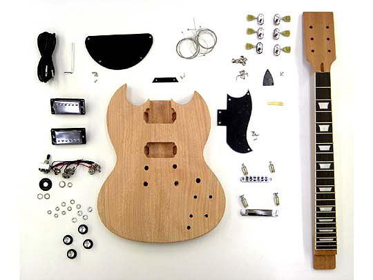 HOSCO(ホスコ/細川) ER-KIT-SG エレキギター・SGタイプ組み立てキット【工作楽器】【送料無料】【smtb-KD】 【楽ギフ_包装選択】:-as-p2