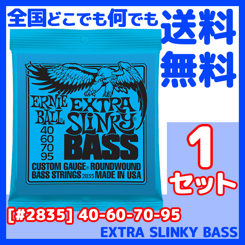 Ernie Ball Extra Slinky Bass Strings 2835 .040-.095 2-pack 2 Sets