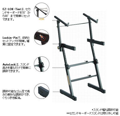 HERCULES(ハーキュレス)「KS410B」Z型キーボードスタンド【送料無料】【smtb-KD】