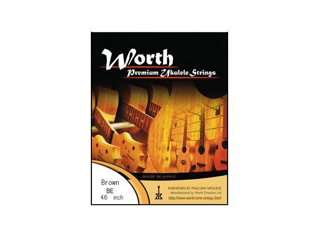 Worth Strings ウクレレ弦セット「BE×12セット」 ブラウンフロロカーボン/エクストラ ワース・ストリングス【送料無料】【smtb-KD】