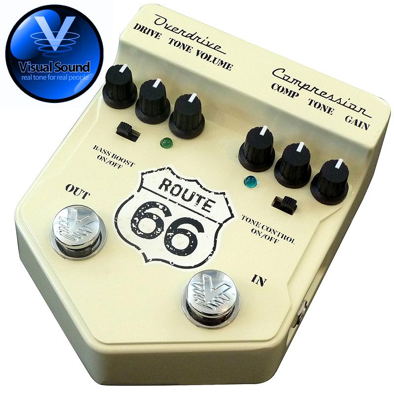 (正規輸入品で安心!)VISUAL SOUND ROUTE 66 V2/オーバードライブ+コンプレッサー 【送料無料】【smtb-KD】:-as-p2