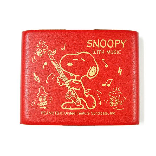 現品 全国どこでも何でも送料無料 SNOOPY ギフ_包装 WITH MUSIC SBC-05RED スヌーピー×リードケース バスクラリネット用5枚入り スヌーピーバンドコレクション :-p2 smtb-KD 送料無料 赤