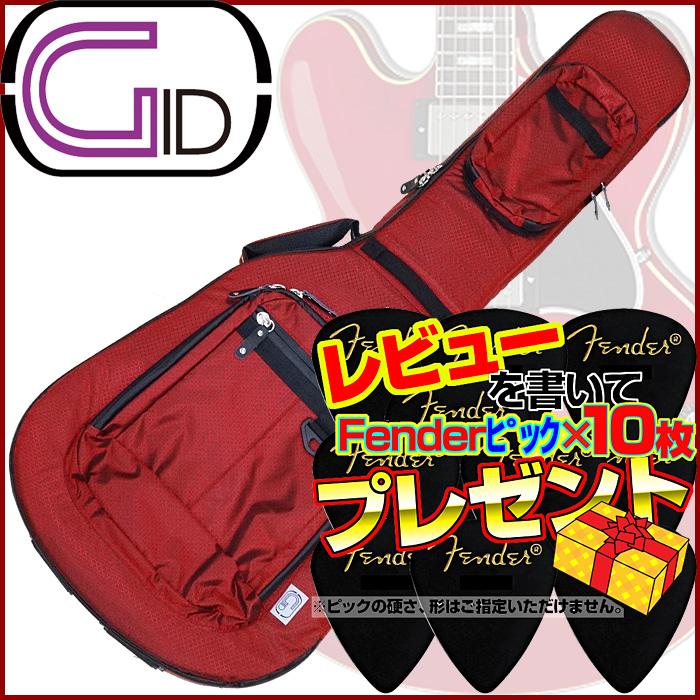 【あす楽対応】GID(ジッド)CASE SERIES/セミアコ用ライトギグバッグ(RED:レッド)/GLGT-335【送料無料】【smtb-KD】GLGT335:-as-p5