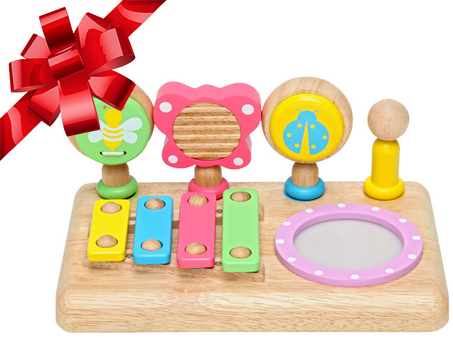 Edute Age 10 Months First Music Set And 1 Year Old Half Wooden Toys Wooden Toys Baby Gifts Instrument Sounds As P5