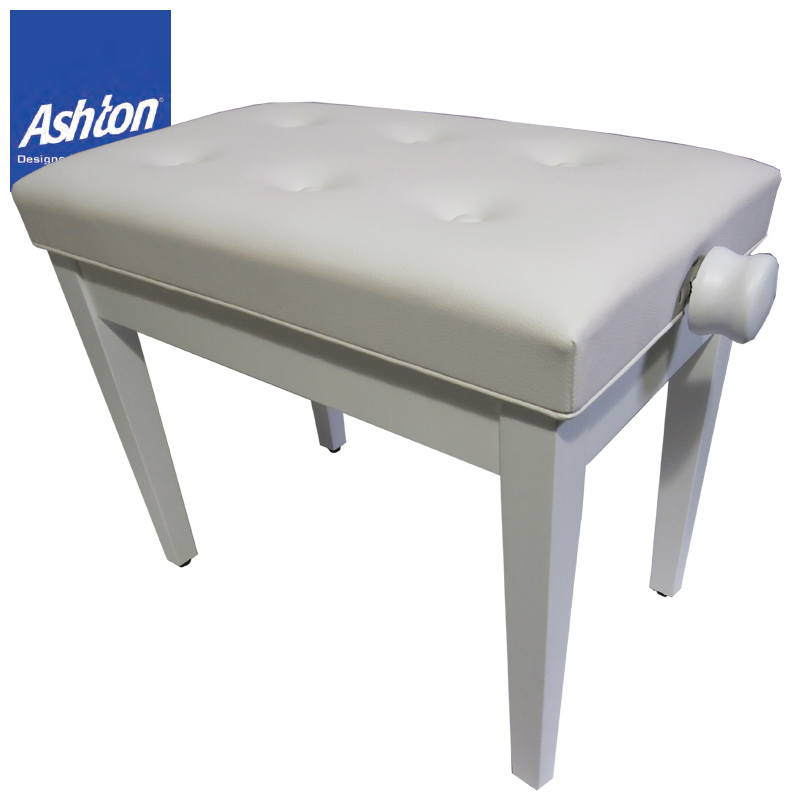 ASHTON APB200MWH MATT WHITE PIANO BENCH【送料無料】【smtb-KD】