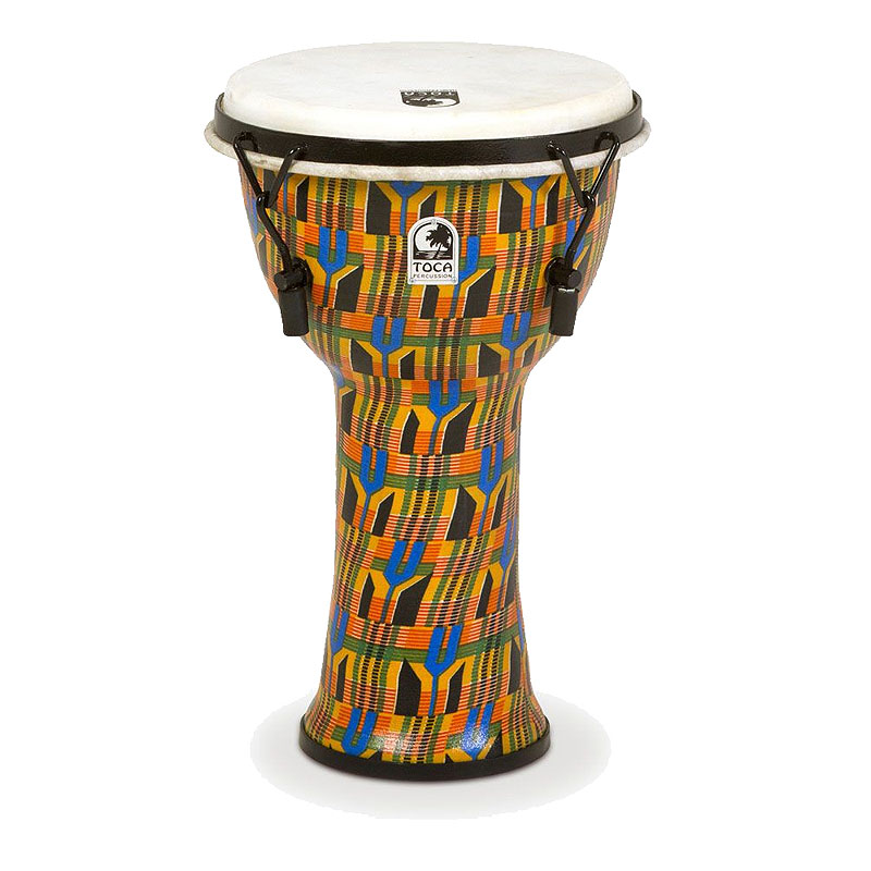 TOCA(トカ) Toca Products Djembes SFDMX-9K Freestyle Mechanically Tuned Djembe 9inch, Kente Cloth☆ジャンベ 9インチ Percussion パーカッション SFDMX9K【smtb-KD】:-p2