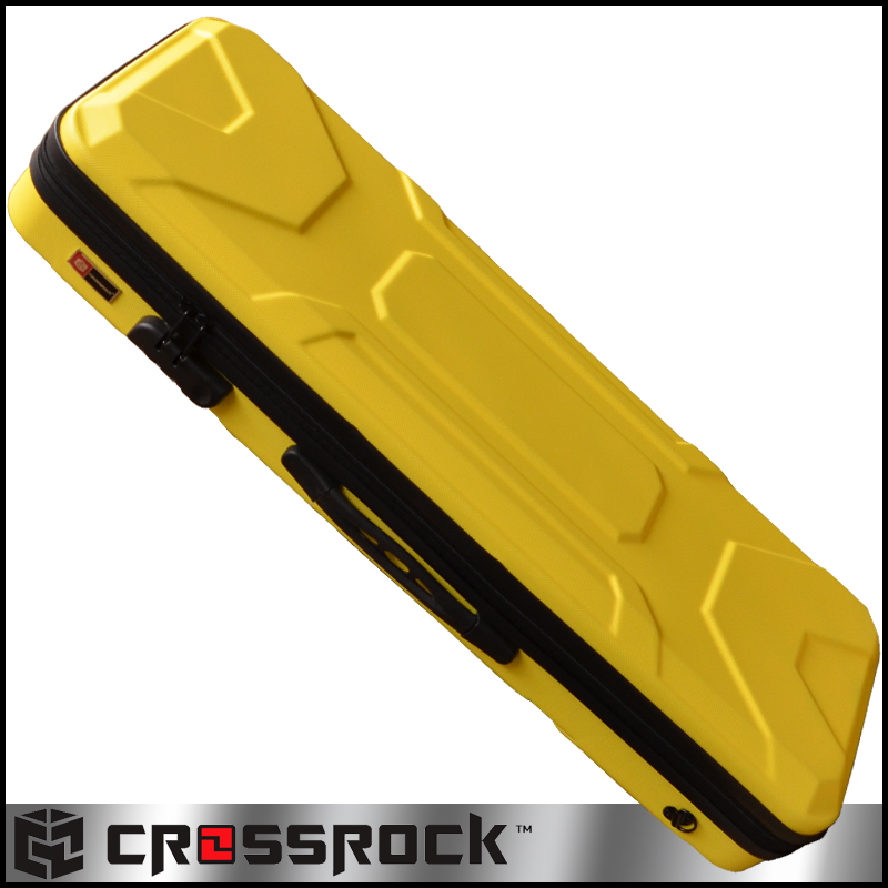CROSSROCK CRA400VF YL 4/4 Violin oblong zippered ABS Case Yellow☆クロスロック ヴァイオリンケース イエロー【smtb-KD】