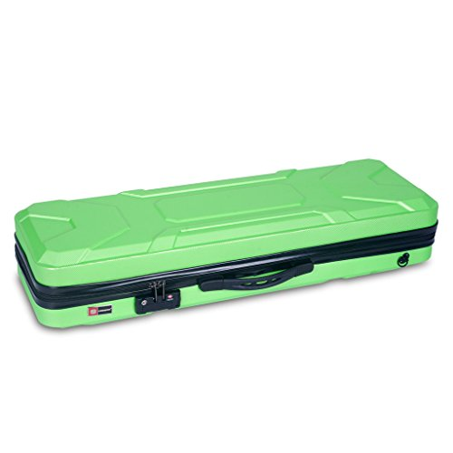 クロスロック バイオリンケース グリーン CROSSROCK CRA400VF GN 4/4 Violin oblong zippered ABS Case Green 【smtb-KD】