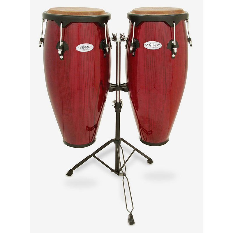 TOCA(トカ) Toca Products Congas SYNERGY SERIES Synergy Wood Conga Set with Stand 2300RR Synergy 10+11inch w/Double Stand-Red☆コンガ スタンダード レッド Percussion パーカッション 2300-RR【smtb-KD】:-p2
