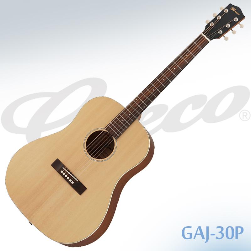 【安心の正規仕入品】GRECO GAJ-30P Natural(ナチュラル) エレアコ ジャンボサイズ グレコ ケース付き【smtb-KD】:-p5