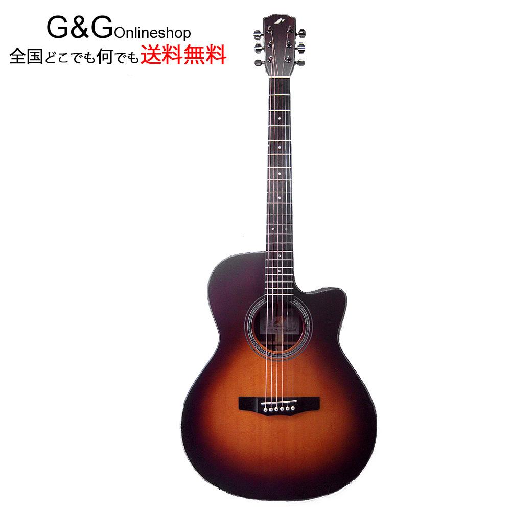 モーリス R-14 BS:ブラウンサンバースト 日本製 エレアコ アコースティックギター MORRIS【送料無料】【smtb-KD】