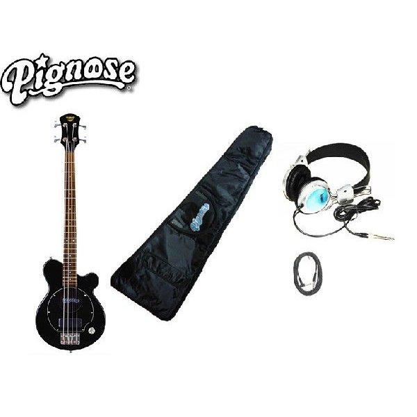 アンプ内蔵コンパクトなエレキベースギター大満足4点セット!/Pignos(ピグノーズ)PGB-200 BK=Black+小物3点【送料無料】【smtb-KD】:-as-p2