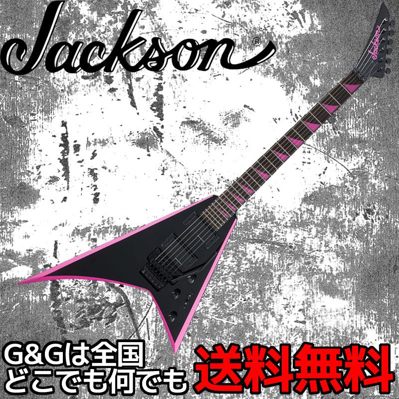 JACKSON RRX24 Black with Neon Pink Bevels -Rhoads- ブラック ウィズ ネオンピンクベベル ジャクソン エレキギター【smtb-KD】:-p5