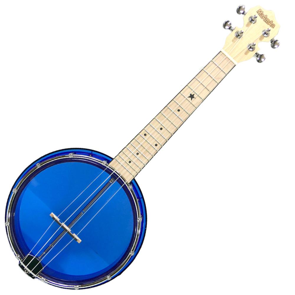国内どこでも送料無料 試奏動画で音色が聴ける クリスタル バンジョーウクレレ マァーマァ ブルー MaAmAa MBU-C BL コンサートサイズ BLUE Ukulele Banjo Series spsale クリアカラー 最安値 流行 Crystal