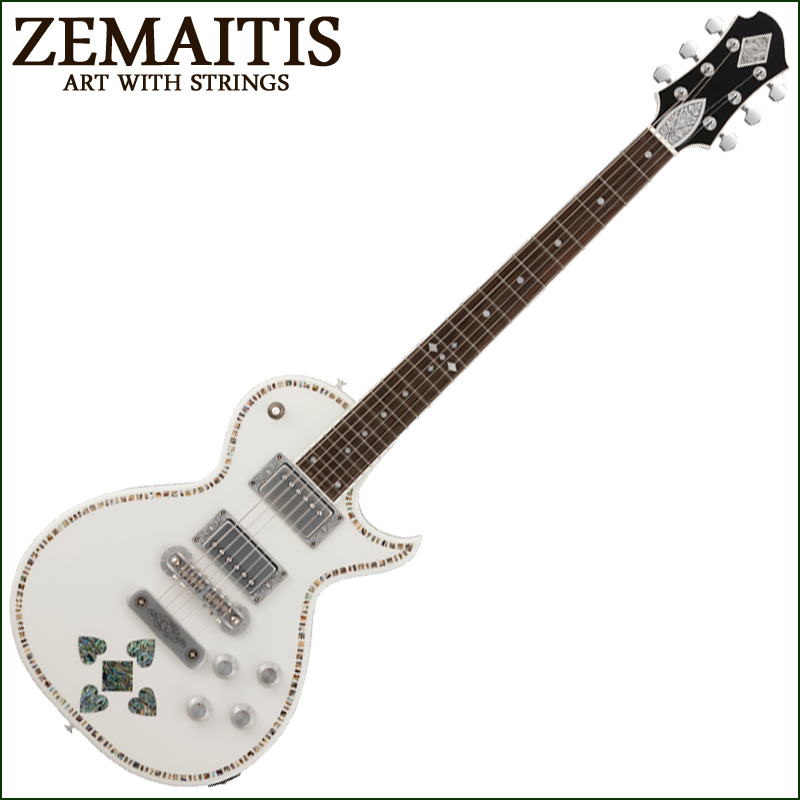 Zemaitis A24SU WHITE PEARL HEART【smtb-KD】:-p2