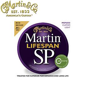 MARTIN(マーチン弦) 「MSP6050×8セット」カスタムライト・ゲージ  SP Lifespan 80/20 Bronze Custom Light Gauge Acoustic/MSP-6050 【送料無料】【smtb-KD】:-p2