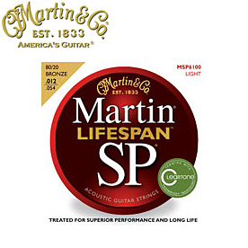 MARTIN(マーチン弦) 「MSP6100×9セット」ライト・ゲージ  SP Lifespan 80/20 Bronze Light Gauge Acoustic/MSP-6100 【送料無料】【smtb-KD】:-as-p2