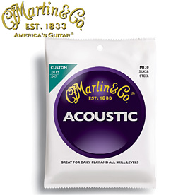 MARTIN(マーチン弦) 「M130×12セット」シルク&スティール  Silk & Steel Folk Acoustic Guitar/M-130 【送料無料】【smtb-KD】:-as-p2