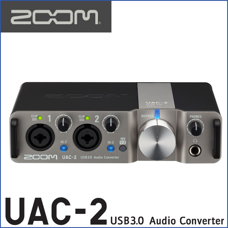 ZOOM(ズーム) UAC-2 2-Channel USB3.0 Audio Converter for Mac and PC ラックタイプ&MIDI I/F 良い音で録り、良い音で聴く♪憧れのハイレゾ環境が手に入ります【送料無料】【smtb-KD】:-p5