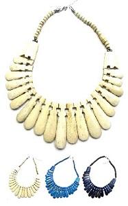 インド製キャメルボーンネックレス 代引き不可 アフリカン風エスニックアクセサリー エスニックアジアンファッション 待望