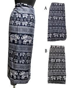 ゾウ柄エスニックスカート 大決算セール ランキング総合1位 巻きスカートエスニック衣料 エスニックアジアンファッション