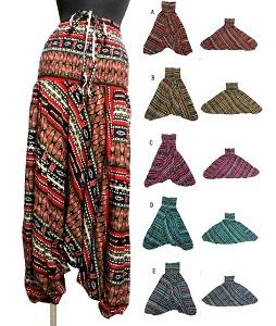 信憑 エスニックサルエルパンツ 2WEYサロペットエスニック衣料 エスニックアジアンファッション SALENEW大人気