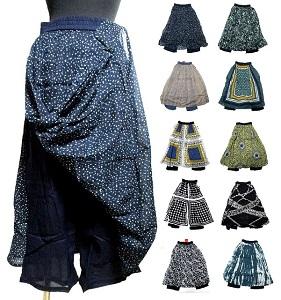 大幅値下げランキング エスニックパンツ 2枚重ねスカート風パンツ エスニック衣料エスニックアジアンファッション おすすめ特集