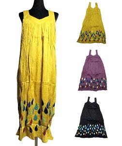 年末年始大決算 膝下エスニックワンピース 高い素材 エスニック衣料 エスニックアジアンファッション