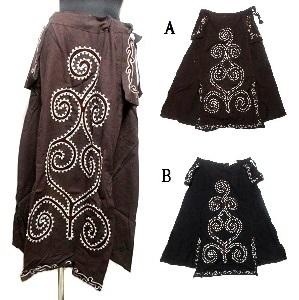 手刺繍エスニックスカートネパール製エスニック衣料 まとめ買い特価 エスニックアジアンファッション 超特価SALE開催