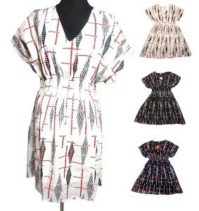 輸入 膝丈エスニックワンピース 2020新作 エスニック衣料 エスニックアジアンファッション