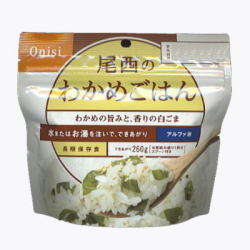 送料無料尾西食品アルファ米 わかめご飯(50袋/箱)